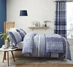 blue and white bedspread. Plain White Image Is Loading FLORALGEOMETRICGRADEDSTRIPEBLUEWHITEQUILTEDBEDSPREAD  With Blue And White Bedspread