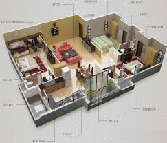 3bhk home design plans indian style 3d dr house