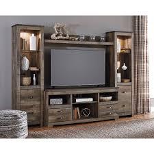 beautiful tv wall units. Brilliant Beautiful Natural Brown 4 Piece Rustic Entertainment Center  Trinell  Intended Beautiful Tv Wall Units N
