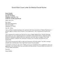 Astounding Sample Cover Letter For Social Worker Position 97 For