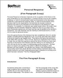 response essay sample examples in word pdf personal response essay
