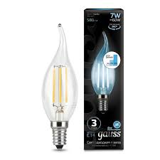 "<b>Лампочка Gauss</b> LED Filament ""Свеча на ветру"" E14 7W 580lm ..."