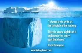 ernest hemingway quotes principle iceberg ernest hemingway quotes principle iceberg hemingway quotes on writing