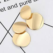 LOVBEAFAS Big <b>Vintage</b> Earrings for Women Gold Silver Geometric ...