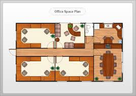 Office space plans Furniture Showroom Design Office Space Design Floor Plan Example Conceptdrawcom Building Design Software Create Great Looking Building Plan Easily