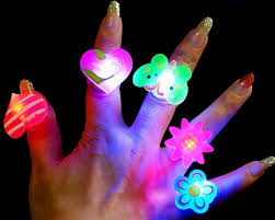 Baby 5pcs <b>LED Flash</b> Finger Kids <b>Luminous Light</b>-up Rings Toy gifts ...
