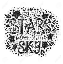 Not All Stars Belong To The Sky Handdrawn Vector Summer Illustration