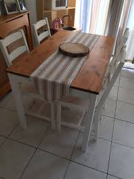 Ikea Jokkmokk Dining Table And Chairs Painted In Annie Sloan Chalk