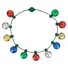 Light Up Christmas Necklaces Disney Glow Necklace Holiday Jingle Bells Light Up