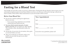 Doctors also use them to figure out how well treatments are for instance, if you eat or drink before a fasting blood glucose test, your blood sugar probably will be higher than if you hadn't had anything. Https Www Allinahealth Org Media Allina Health Files 15008fastingpt Pdf