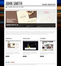 Personal Resume Website John Smith Personal CVPortfolio Website Template By Odincov 90