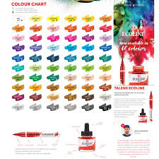 Tombow Dual Brush Pen Blank Color Chart 38 Matter Of Fact Ecoline Color Chart