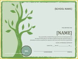 Microsoft Award Templates Free School Award Certificate Templates Of School Attendance