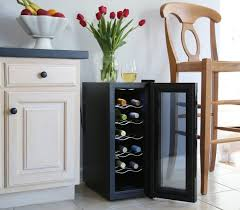 ivation 12 bottle thermoelectric red and white wine cooler as a furniture