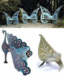unusual outdoor furniture. Unusual Garden Furniture Butterfly Benches Peacock Bench Leaf Chair Outdoor
