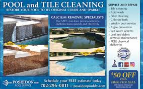 Pool service ad Tile Cleaning Image May Contain Text Mzchampagneinfo Poseidon Pool Service Home Facebook