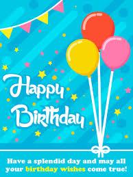 Balloons Stars Streamers Happy Birthday Card Birthday