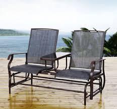 outdoor glider rocker. Patio Glider Rocking Chair Bench Loveseat 2 Person Rocker Deck Outdoor
