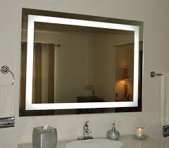... Modern Finishing Wall Mirror With Lights Perfect Creativity Rectangular  Shape ...
