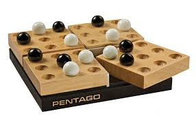 Classic Wooden Board Games mindtwisterusa CLASSIC WOOD PENTAGO 12