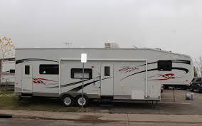 2007 kz sportsmen sportster 32p bunkhouse travel trailer toyhauler 5th wheel cer rv