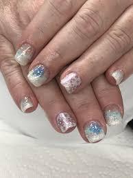 Light Elegance Diamond Glitter Snow Hill Snowflakes Gel Nails Light Elegance White Swimsuit