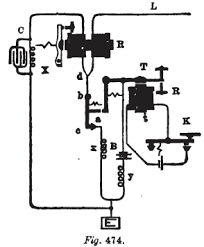 twinkle toes engineering stearn s differential duplex circuit showing his 1872 addition of a parallel capacitor marked c to the dummy line on left