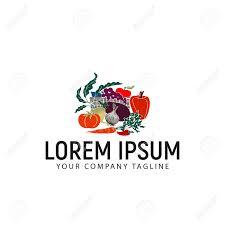 Fruit And Vegetable Logo Design Vegetables Logo Design Concept Template