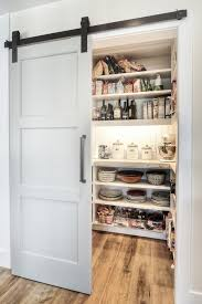 barn door ideas kitchen transitional with pantry shelves pantry shelves