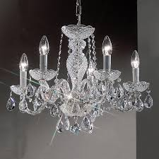 design classic lighting. Classic Lighting Monticello 22-in 5-Light Chrome Crystal Candle Chandelier Design