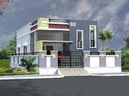building elevation design in india with bungalow house plans with garage on angle with entrance door
