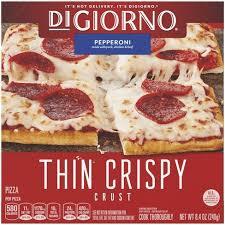 4 oz of mozzarella, cubed. Digiorno Thin Crispy Crust Pepperoni Frozen Pizza 8 4oz Target