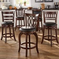 counter height stools with backs. Interesting Counter Verona Cherry Swivel 24inch High Back Counter Height Stool By INSPIRE Q  Classic To Stools With Backs O