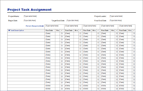 Project Task Assignment Template Blue Layouts