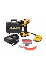BAUER Power Tools 24 Volt 5.0 Amper Darbeli Çift Akülü 27 Parça Uc Setili  Şarjlı Vidalama Matkap