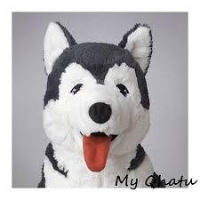 ikea livlig plush siberian husky dog soft toy stuffed s alaskan eskimo new