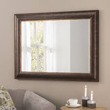 bronze wall mirror with gold trim and pinstripes 104 x 76cm exclusive mirrors