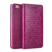 iphone 6 6s crocodile pattern rose red leather wallet case