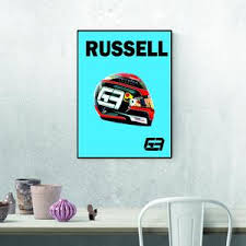 Russell's drive in hamilton's mercedes capped a whirlwind year, which included fears he might even be dropped by williams' new owners. George Russell Helmet Prints F1 Xmas Present Formula One Etsy