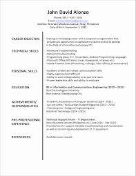 Resume Format For Mba Finance Freshers Pdf Inspirational New