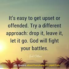 Let It Go Quotes Simple It's Easy To Get Upset Or Offended Try A Different Approach Drop