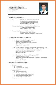5 Cv Format Download For Job Application Emmalbell