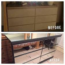 mirrored furniture diy. diy mirrored dresser painted furniture