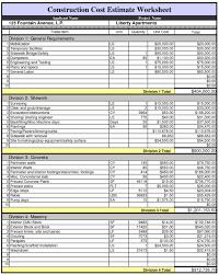 Construction Estimate Construction Estimating Spreadsheet Inspirational House Construction 1