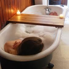 Bathtub Tray Tub Caddy Reclaimed Wood Bath Tray