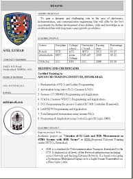 One Page Resume Format Doc Resume Format Doc For Experienced India All New Resume