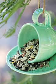 garden crafts. Teacup Bird Feeder. Fun And Easy Garden Craft Crafts