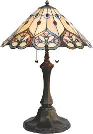 Cairo Tiffany Style Table Lamp With Stained Glass Shade