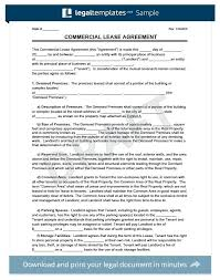 Commercial Building Lease Agreement Template Office Form ...