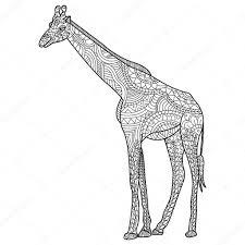 Kleurennu Giraffe Met Cadeautjes Kleurplaten Kleurplaten Giraf